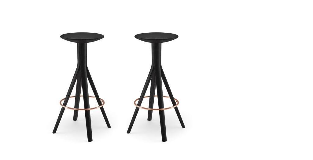 Mooi en functioneel de mitja kalota bar stool beltane - Eigentijdse bar ...